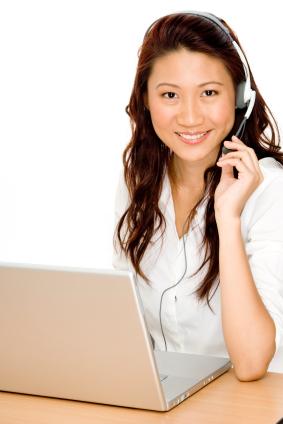female on phone